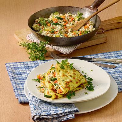 rezept quinoa omelett. Black Bedroom Furniture Sets. Home Design Ideas